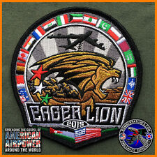 EAGER LION 2015 PATCH, JORDAN / NATO B-52 96TH BOMB SQUADRON, 2ND BOMB WING USAF