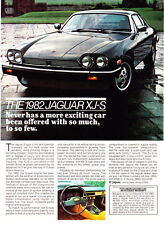 "1982 Jaguar XJS XJ-S Coupe photo ""First & Foremost A Driver's Car"" print ad"