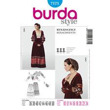 Burda Pattern 7171 Misses' Renaissance Skirt, Top, Snood Costume SZ 10~24