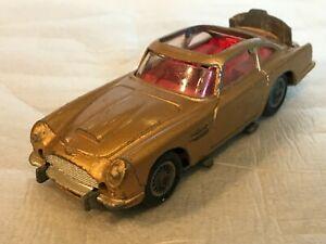 Corgi Toys Vintage James Bond Aston Martin DB5 Gold Poor Condition Missing parts