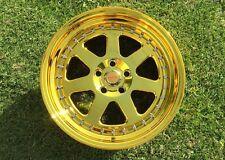 18x9.5 Chikara Rims 5x114.3 +20 Vacuum Gold Chrome Wheels (Set of 4)