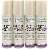 SALICYLIC ACID BHA SKIN PEEL 5% 10% 20% ACNE TREATMENT SCARS BLACKHEADS