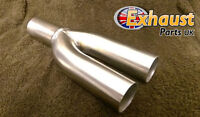 "Exhaust Y Piece 2 into 1 Divider 63.5mm 2.5"" Stainless Steel Bike Kit Collector"