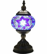 AMAZING Turkish Mosaic Vintage Desk Lamp Handmade Light Moroccan Bedside