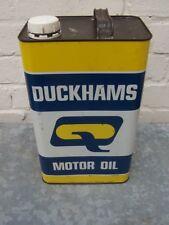 CIRCA 1979 VINTAGE DUCKHAMS MOTOR OIL CAN TIN GARAGE DISPLAY AUTOMOBILIA