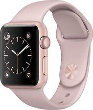 Apple - Apple Watch Series 2 42mm Rose Gold Aluminum Case Pink Sand Sport Ban...
