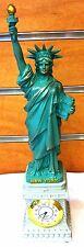 Statue of Liberty Replica Figurine with Clock, 10 inches New York City Souvenir