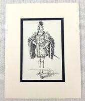 Antico Teatro Stampa Le Beau Courtier Shakespeare Personaggio Costume Ca 1889