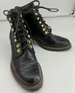 NEXT FOREVER COMFORT BLACK LEATHER LACE UP BOOTS 6.5 (40) EXCELLENT CONDITION