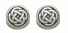 SILVER TONE CELTIC KNOT CUFF LINKS (088a)