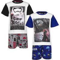 NEU Pyjama Set Kurz Schlafanzug Jungen Star Wars schwarz blau 104 116 128 140 #6