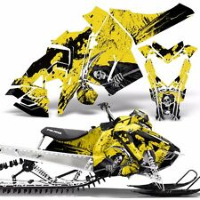 Sled Wrap for Polaris AXYS Graphic Kit Stickers Snowmobile SKS Pro RMK REAP YLLW