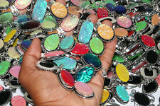Rare Dichroic Glass Wholesale Lots 925 Sterling Silver Plated Handmade Pendants