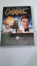"""DVD """"007 EL HOMBRE DE LA PISTOLA DE ORO"""" 2 DVD PRECINTADA ROGER MOORE CHRISTOPHE"""