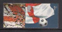 GB 2002 sg LS8 World Cup Football Smiler Sheet Single Stamp With Label Litho MNH