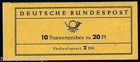 GERMANY FEDERAL COMPLETE UNEXPLODED BOOKLET MI# MH9