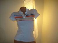 Aeropostale Womens Juniors Polo Aero Striped XS Tee Top Shirt Collar NEW