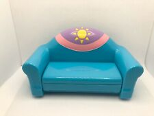 Dora The Explorer Pull Out Blue Sofa Bed Dollhouse Furniture 2003 Toy Mattel