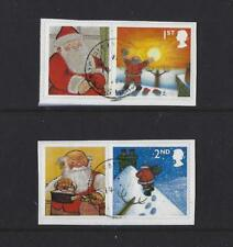 GREAT BRITAIN 2004 CHRISTMAS LITHO DE LA RUE PAIR FINE USED