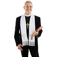 Mens Vicar Costume Kit for Adult Priest Father Church Fancy Dress Stag Party