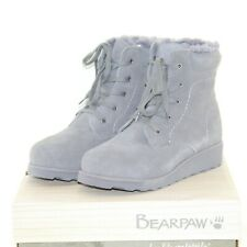 BEARPAW PHOEBE womens winter hiker boots shoes size 8 M charcoal suede upper NEW