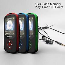 RUIZU X06 Musique Record 8G Flash TF Carte Running Sport Bluetooth MP3 Player bl