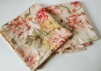 Ralph Lauren King Size Sussex Garden Pillowcases Cotton peach Floral Pair/2  HTF