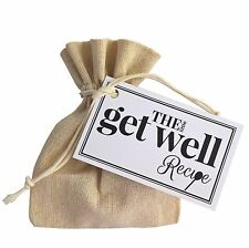 The Little Get Well Recipe - Unique Thoughtful Gift Token Caring thinking of you