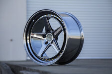 Aodhan DS05 18x8.5 +35 5x114.3 Black Chrome Civic Accord TSX RSX Eclipse Mazda3