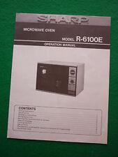Vintage Sharp Micro-ondes Manuel R-6100E (61R-OM001E) R6100E