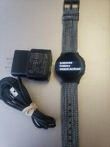Samsung Galaxy Watch Active 2 40mm Aqua Black Aluminum Case - Gray Band