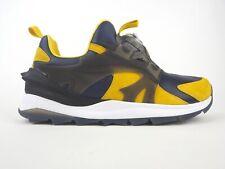 Boys Puma Disc Swift Tech 356904 03 Peacoat Ceylon Yellow Running Shoes Trainers