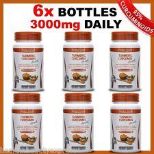 6 x BOTTLES TURMERIC PILLS 95% CURCUMINOID LONGA LINN PURE TUMERIC ANTIOXIDANT