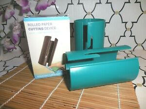 2 Pack ~ ROLLED GIFT WRAP ~PAPER CUTTER ~ NO SCISSORS JUST SLIDE ~ FAST SHIPPING