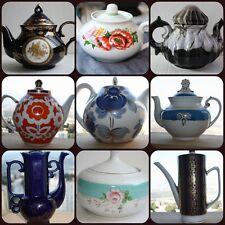 TeaPot Coffee Pot Porcelain German Russian USSR Soviet Riga Lomonosov LFZ Rare