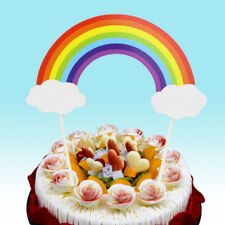 1Pc Rainbow Cupcake Toppers Cake Picks Flags Wedding Birthday Party Decoration