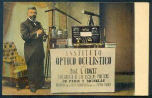 ARGENTINA 1920 OLD REAL RPPC Advert. INSTITUTE OPTICAL OCULIST PROFESSOR CROZET