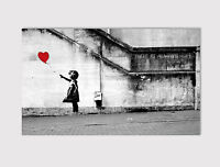 57 NEW LARGE CANVAS MULTI WALL ART BANKSY BALLOON GIRL ROOM B/W Print picture