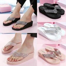 Summer Women Ladies Wedge Platform Thong Flip Flops Sandals Beach Slippers Shoes