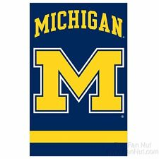 Michigan Wolverines 2-sided 28x44 Embroidered Applique Banner Flag University of