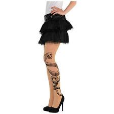 Womens Voodoo Witch Doctor Snake Tights Halloween Fancy Dress Accesory by Amscan