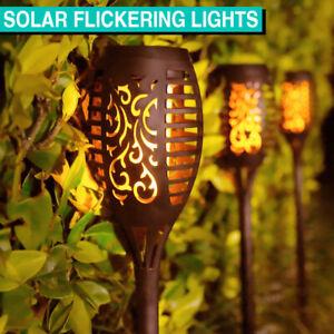 4 Pack LED Solar Lights Flickering Torch Path Light Flame Garden Landscape Lamp