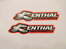 Two Renthal Handlebars Sprocket Factory Racing Sponsor Decals Motocross Stickers