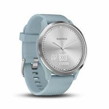 Reloj inteligente híbrido Garmin vivomove Hr (Pequeño/Mediano) - plata con banda de espuma de mar