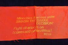 1978 RCYB AFFIRMATIVE ACTION BAKKE DECISION BOYCOTT UC REGENTS BERKELEY ARMBAND