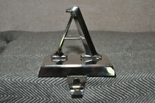 A Letter / Initial Silver Monogram Christmas Weighted Mantel Stocking Hanger