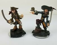 Lot of 2 Disney Infinity Pirates of the Caribbean Jack Sparrow Captain Barbossa