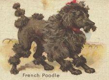 Vintage tobacco cigarette silk - use in crazy quilt - Dog, French Poodle, animal