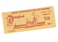 Disneyland Vintage Admission Ticket circa 1970 Still Valid Today