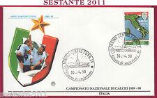 ITALIA FDC FILAGRANO NAPOLI CAMPIONE D'ITALIA 1989 - 90 1990 ANNULLO TORINO T72